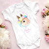 G4 Personalized first easter bunny onesie GST