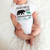 Personalized Our First Father's Day Bear Matching Shirts Dad And Baby Gift