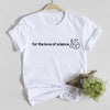 For the love of science unisex white t-shirt - GST