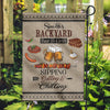 [Personalized Garden Flag with Family Name] Backyard Bar & Grill Garden Flag