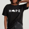 Australia fires - Hope for australia t-shirt - GST