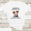Personalized Gift For Dog Lover My Dog Makes Me Happy Jack Russell Terrier T-shirt