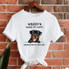 Personalized Gift For Dog Lover My Dog Makes Me Happy Rottweiler T-shirt