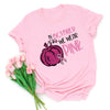 In October we wear pink - Pumpkins T-Shirt - Support for Breast Cancer
