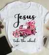 Jesus Take The Wheel Leopard Car Pink Shirt Christian Gift