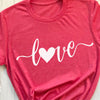Valentines day heart shirt for women - GST