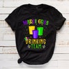 Mardi gras drinking team shirt - GST