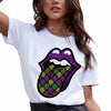 Mardi gras - Mardi gras lips sublimation shirt for women - GST