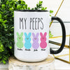 Personalized my peeps easter mug GST