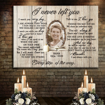 Personalized sympathy gift in loving memory of husband wife Horizontal Canvas
