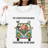 On a dark desert highway hippie shirt gift for dog lover