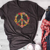 Floral peace sign shirt GST