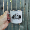 Adventuring togerther personalized campfire travelling couple mug - GST