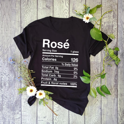 Rose wine nutrition facts thanksgiving matching t-shirt - GST