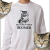 Meow meow Ok boomer sweater,Cat lover shirt, cat lover birthday gifts, valentine gift for cat lover, birthday gift for teenage