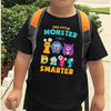 100th day of school - This little monster is 100 days smarter teacher student shirt - GST