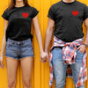 Couple gifts - Be mine red heart design t-shirt - GST