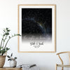 Personalized Gift For Him For Her The Night We Became Us Star Map Poster