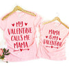 Valentine gifts - Valentines mommy and me matching outfits t-shirt - GST
