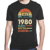 Vintage 1980 40Th Birthday 40 Years Old Man Myth Legend T-shirt - Gst