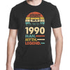 Vintage 1990 January 30Th Birthday 30 Man Myth Legend T-shirt - Gst