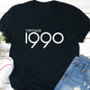 Vintage 1990 retro 30th birthday t-shirt - GST