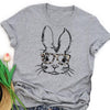 Bunny with glasses women's easter shirt GST