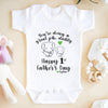 Personalized You're Doing A Great Job Daddy First Father's Day Elephant Onesie - Cute Onesies