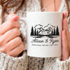 Personalized couple camping mug anniversary gifts GST