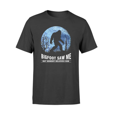 Bigfoot saw me tshirt - gifts for camping lovers