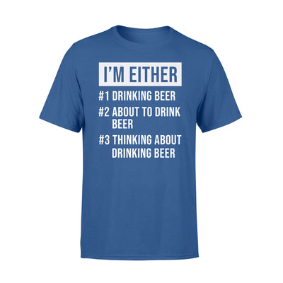 DRINKING BEER T-shirt - GIFT FOR BEER LOVERS