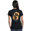 Faith Hope Love Sunflower Christian Womens Shirt - Christian shirt