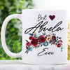 G1 Personalized best custom name ever floral mug Gift for her