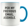 Per my previous email  funny work mug gift for boss for coworker - GST