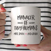 Manager of tiny humans custom mug, elementary school teacher gift, teacher 100 days of school gifts, birthday gift for teacher, personalized teacher appreciation gift, daycare mug, custom gift for teacher - GST