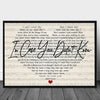 Personalized in case you didnt know first dance song poster canvas GST