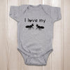 Christmas gifts for newborn baby - I love my aunts onesie baby bodysuit - GST