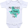 Personalized gifts for newborn baby - My aunties in Texas love me custom name onesie baby bodysuit - GST