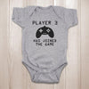 Christmas gifts for newborn baby - Player 3 has joined the game onesie baby bodysuit - GST