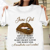 June Girl Hated By Many Loved By Plenty Leopard Lips Shirt Birthday Gift