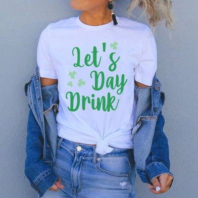 St patricks day - Let's day drink irish shamrock st patricks day shirt - GST