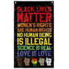 Blm 3 Flag Black Lives Matter - Black Pride Flag