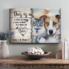 Personalized This Is Us A Whole Lot Of Love Dog Cat Couple Canvas