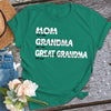 Personalized great grandma est shirt Gsge