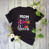 Mom Of The Slime Queen Crown Birthday Matching Party Outfit T-shirt - Gst