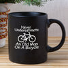 Gifts For Him - Never Underestimate An Old Man On A Bicycle Coffee Mug - Gst