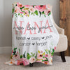 Personalized nana we love you floral blanket Gift for grandmother