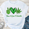 Peace love cannabis 420 shirt GST