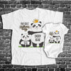 Personalized Our First Father's Day Panda Matching Shirts Dad And Baby Gift