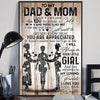 Daughter to mom and dad - To my dad and mom I'll always be your little girl poster - GST